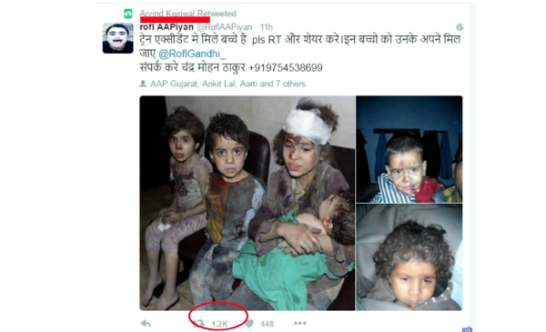 Tweet on Syrian kids
