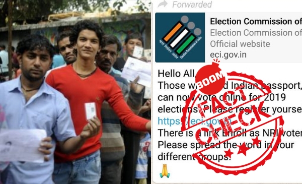 NRIs Allowed To Vote Online? EC Calls It Fake News | BOOM