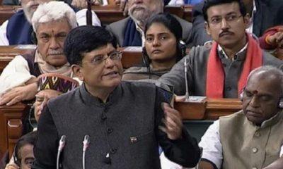 piyush goyal presenting Interim Budget 2019
