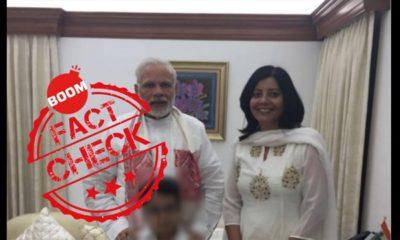 Woman Posing With PM Modi Is Not IAF Pilot Abhinandan's Wife