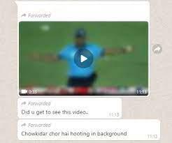 Viral video on WhatsApp