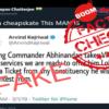 Photoshopped Tweet Claims Arvind Kejriwal Offered Abhinandan Lok Sabha Seat