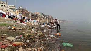 Image 1 put out by RJD claiming as recent Ganga photo