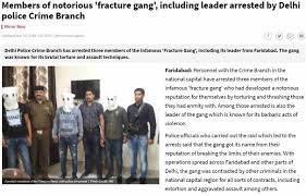 Screenshot showing Haryana's 'fracture gang' assaulting a man