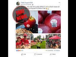 Modi apple viral on facebook