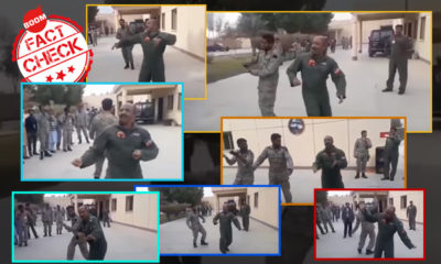 Air force pilot Abhinandan dancing with Pakistani soldiers