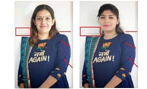 Priyanka Chaturvedi, photoshop, fake, Namo Again