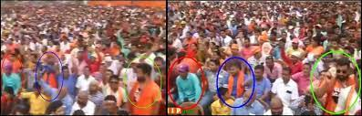Image shows screenshots of two images from the same rally