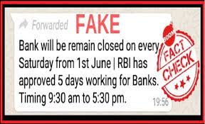 No, Banks Wont Remain Closed Every Saturday From June 1, 2019