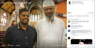 Facebook post on Naik with bomber