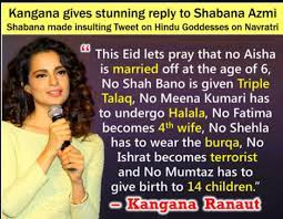 Kangana Ranaut's image along with a text, which appeals to rid the Islam religion of its evils during the festival of Eid is doing the rounds