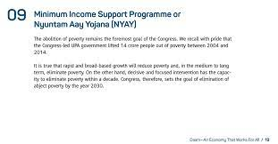 Except from the Congress Manifesto on NYAY