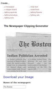 Newspaper Generator clipping
