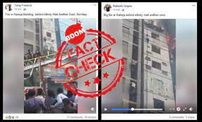 Video of an office fire in Dhaka is shared as Mumbai