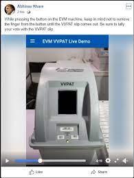 VVPAT demo fb video