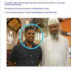 Zakir Nair with Sri Lankan Bomber viral on Facebook