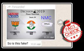 Fake Phase 1 Exit Poll Graphic Predicts Congress In The Lead