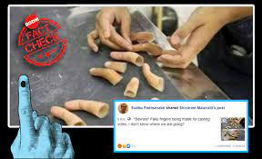 fake fingers for voting