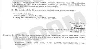 The I&B Ministry has forwarded the RTI filed by BOOM to the EC to answer some questions