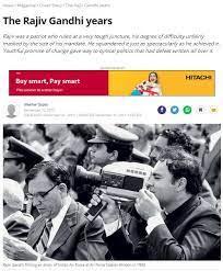 India Today article on Rajiv Gandhi