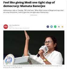 Mamata Banerjee, Narendra Modi, Slap