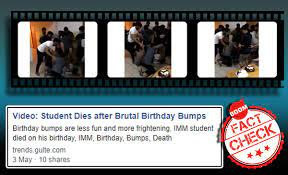 birthday bumps fake claim