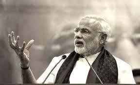 Image shows Narendra Modi