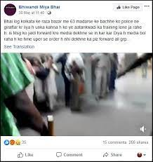 Image shows another Facebook post with the video and a misleading caption