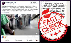 Image shows Facebook post with the video and a misleading caption