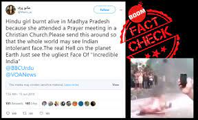 Fake News Hindu Teen burnt