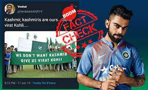 "Did Pak fans hold a placard, ""We Don't Want Kashmir, Give Us Virat Kohli"""