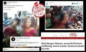 Old Lynching Incident From West Bengal Revived With False Communal