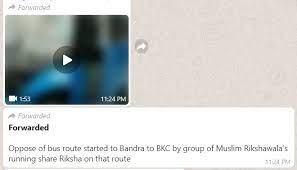 Bandra bus attacked false claim