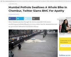 CNN news 18 tweet on bike in pothole