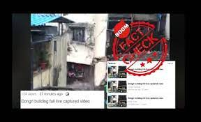 Old building collapse video from Mumbai