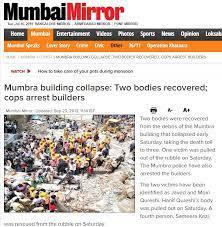 Mumbai mirror article