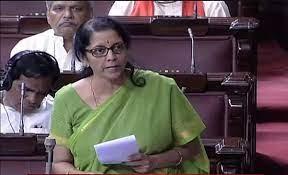 Nirmala Sitharaman in Rajya Sabha