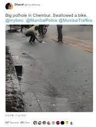 Pothole tweet