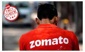 Image shows Zomato logo with tweet