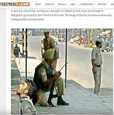 The same photo published in Free Press Kashmir