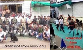mock drill at ambaji temple