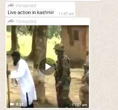 WhatsApp message on Kashmir