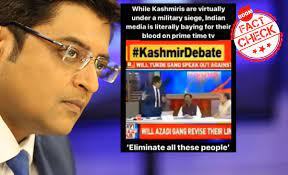 A footage of Arnab Goswami was carefully edited to change the narrative