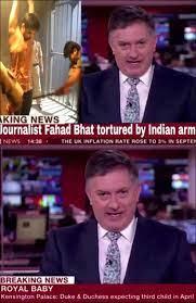Image shows BBC Reporter Simon McCoy