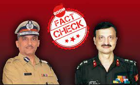 image shows Mumbai CP Sanjay Barve and Brig Hemant Mahajan