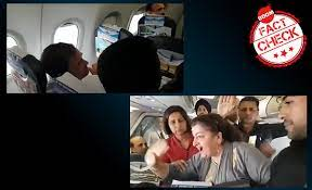 viral video of woman in flight