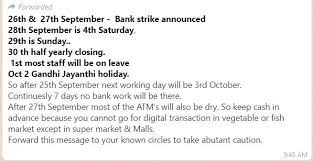 Banks Strike Whats App mesage