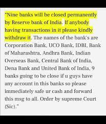 Viral image showing bank shutdown