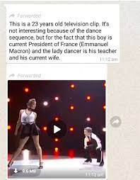 French President Macron Dancing With His Wife 23 Years Ago A Factcheck
