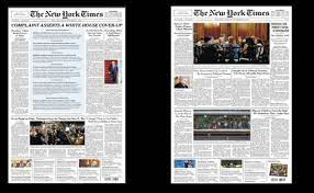 (L-R)Front page of the September 27 issue and September 28 issue of the New York Times